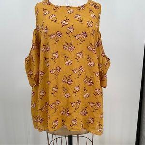 Xhilaration plus size 4X blouse top shirt floral